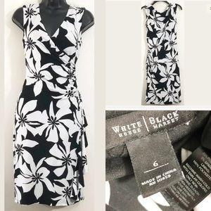 White House Black Market ruched faux wrap dress